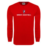 Red Long Sleeve T Shirt-Womens Basketball Stacked