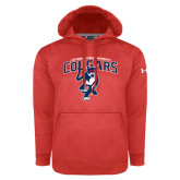 Under Armour Red Performance Sweats Team Hoodie-Primary Mark