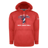 Under Armour Red Performance Sweats Team Hoodie-Mens Basketball