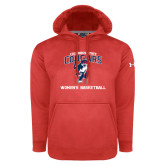 Under Armour Red Performance Sweats Team Hoodie-Womens Basketball