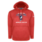 Under Armour Red Performance Sweats Team Hoodie-Womans Soccer