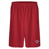Performance Classic Red 9 Inch Short-Columbus State Cougars w/ Cougar Arched