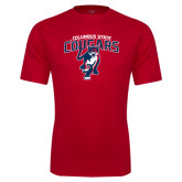 Syntrel Performance Red Tee-Columbus State Cougars w/ Cougar Arched