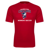 Performance Red Tee-Womans Soccer