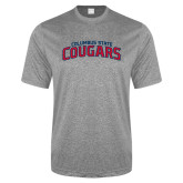 Performance Grey Heather Contender Tee-Arched Columbus State Cougars