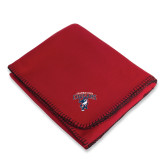 Red Arctic Fleece Blanket-Columbus State Cougars w/ Cougar Arched