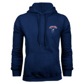 Navy Fleece Hoodie-Columbus State Cougars w/ Cougar Arched