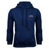 Navy Fleece Hood-Arched Columbus State Cougars
