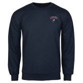 Navy Fleece Crew-Columbus State Cougars w/ Cougar Arched