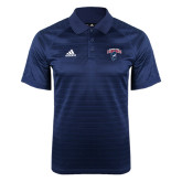 Adidas Climalite Navy Jaquard Select Polo-Columbus State Cougars w/ Cougar Arched