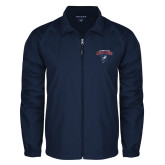Full Zip Navy Wind Jacket-Columbus State Cougars w/ Cougar Arched