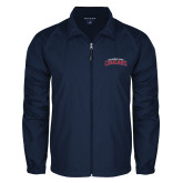 Full Zip Navy Wind Jacket-Arched Columbus State Cougars