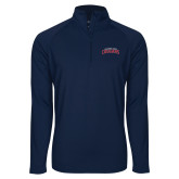 Sport Wick Stretch Navy 1/2 Zip Pullover-Arched Columbus State Cougars