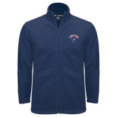 Fleece Full Zip Navy Jacket-Columbus State Cougars w/ Cougar Arched