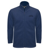 Fleece Full Zip Navy Jacket-Arched Columbus State Cougars