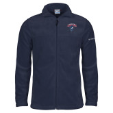 Columbia Full Zip Navy Fleece Jacket-Columbus State Cougars w/ Cougar Arched