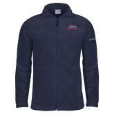 Columbia Full Zip Navy Fleece Jacket-Arched Columbus State Cougars