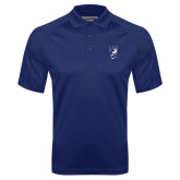 Navy Textured Saddle Shoulder Polo-Cougar