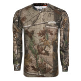 Realtree Camo Long Sleeve T Shirt w/Pocket-Arched Columbus State Cougars