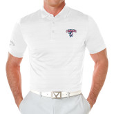Callaway Opti Vent White Polo-Columbus State Cougars w/ Cougar Arched