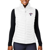 Columbia Lake 22 Ladies White Vest-Columbus State Cougars w/ Cougar Arched