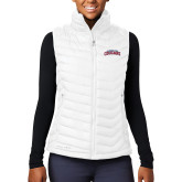 Columbia Lake 22 Ladies White Vest-Arched Columbus State Cougars