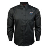 Red House Black Long Sleeve Shirt-Columbus State Cougars w/ Cougar Arched