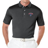 Callaway Black Jacquard Polo-Columbus State Cougars w/ Cougar Arched