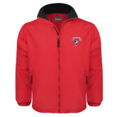 Red Survivor Jacket-Columbus State Cougars w/ Cougar Arched