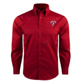 Red House Red Long Sleeve Shirt-Columbus State Cougars w/ Cougar Arched