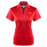 Ladies Red Performance Fine Jacquard Polo-Arched Columbus State Cougars