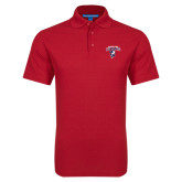 Red Dry Zone Grid Polo-Columbus State Cougars w/ Cougar Arched