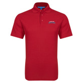 Red Dry Zone Grid Polo-Arched Columbus State Cougars