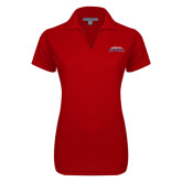 Ladies Red Dry Zone Grid Polo-Arched Columbus State Cougars