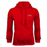 Red Fleece Hoodie-Arched Columbus State Cougars