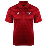 Adidas Climalite Red Jaquard Select Polo-Columbus State Cougars w/ Cougar Arched
