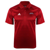 Adidas Climalite Red Jaquard Select Polo-Arched Columbus State Cougars