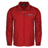 Full Zip Red Wind Jacket-Arched Columbus State Cougars