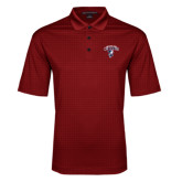 Red Performance Fine Jacquard Polo-Columbus State Cougars w/ Cougar Arched