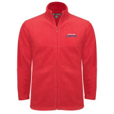 Fleece Full Zip Red Jacket-Arched Columbus State Cougars