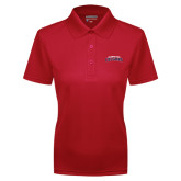 Ladies Red Dry Mesh Polo-Arched Columbus State Cougars