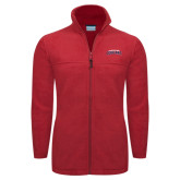 Columbia Full Zip Red Fleece Jacket-Arched Columbus State Cougars