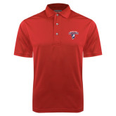 Red Dry Mesh Polo-Columbus State Cougars w/ Cougar Arched