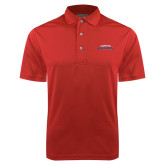 Red Dry Mesh Polo-Arched Columbus State Cougars