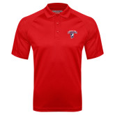 Red Textured Saddle Shoulder Polo-Columbus State Cougars w/ Cougar Arched