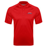 Red Textured Saddle Shoulder Polo-Arched Columbus State Cougars