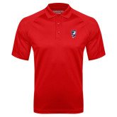 Red Textured Saddle Shoulder Polo-Cougar