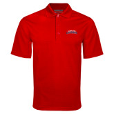 Red Mini Stripe Polo-Arched Columbus State Cougars