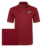 Callaway Red Jacquard Polo-Columbus State Cougars w/ Cougar Arched
