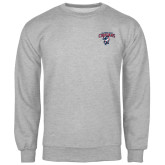 Grey Fleece Crew-Columbus State Cougars w/ Cougar Arched